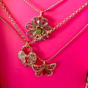 Betsey Johnson necklace trio
